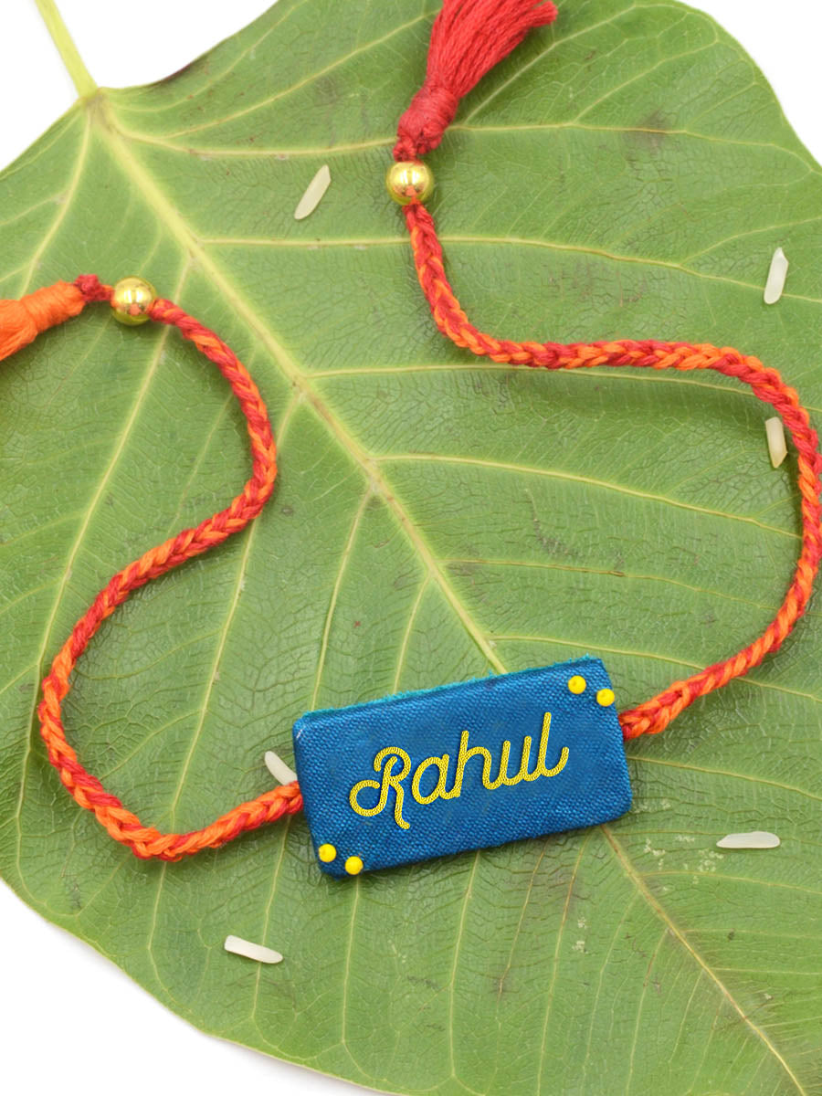Customised Name Embroidered Rakhi