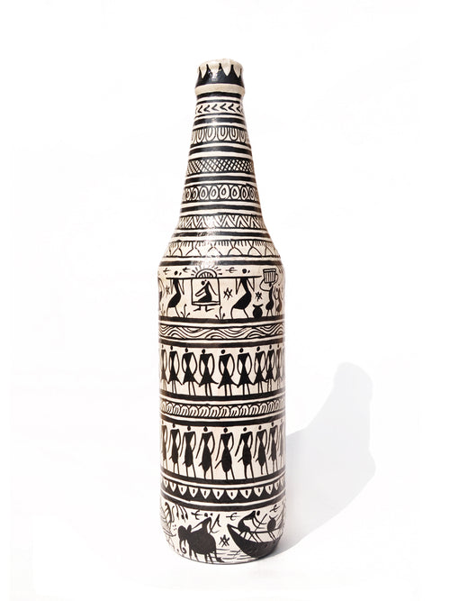 Decorative Bottle-Vase (Black and White) - 2