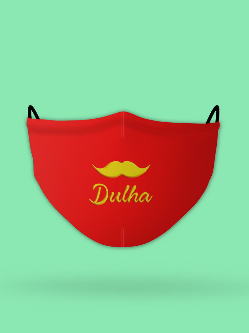 Dulha Printed Wedding Face Mask