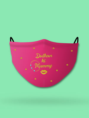 Dulhan ki Mummy Embroidered Wedding Face Mask