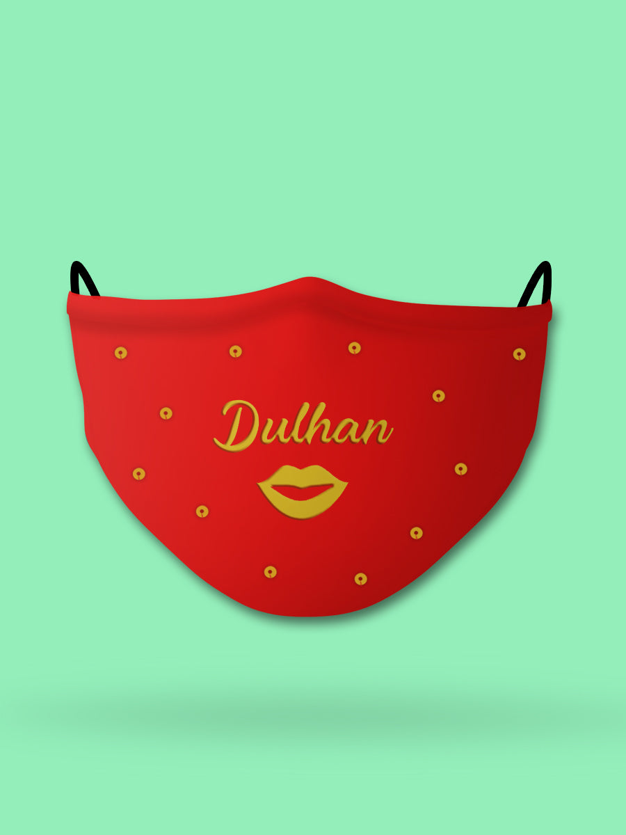 Dulhan Embroidered Wedding Face Mask