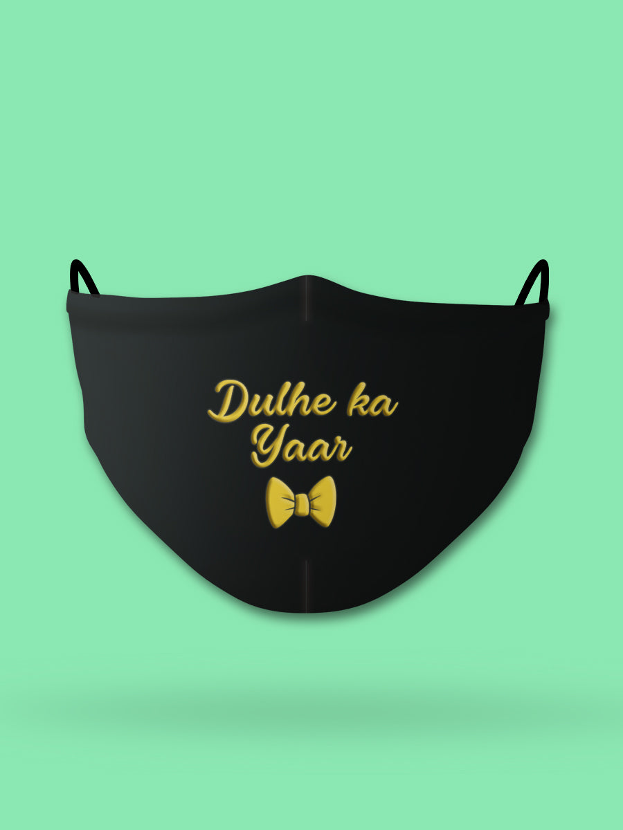 Dulhe ka Yaar Printed Wedding Face Mask