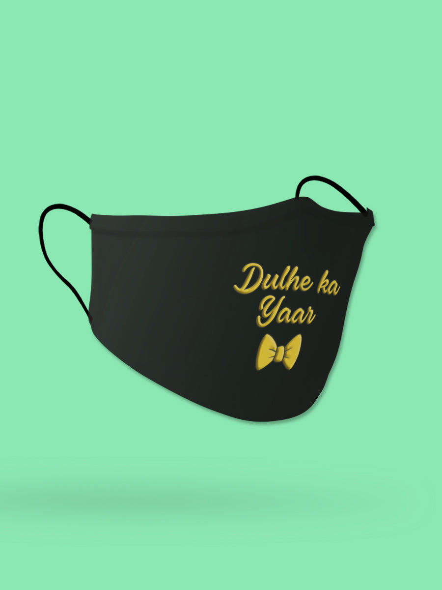 Dulhe ka Yaar Embroidered Wedding Face Mask