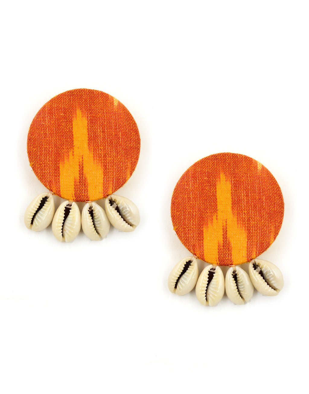 Ikat Shell Earrings