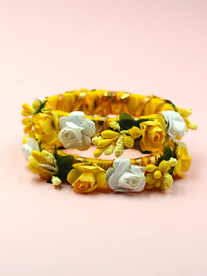 Floret Festive Bangles (Set of 2), an exclusive designer, hand crafted bangle from our quirky floral collection of bangles for women.