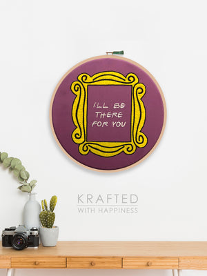Friends Embroidered Hoop Wall Art