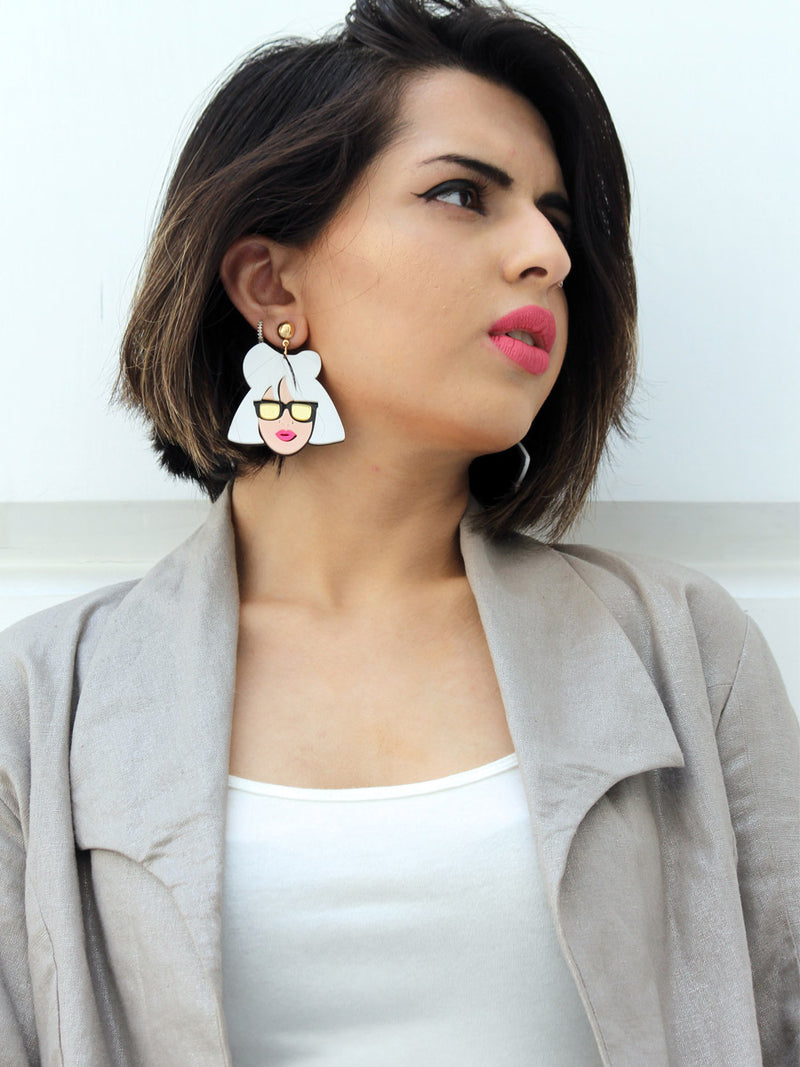 Gaga Fever, a quirky, unique, statement party-wear earrings from our designer collection of earrings for women online.