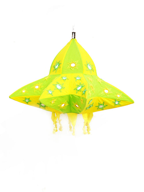 Green and yellow star lantern
