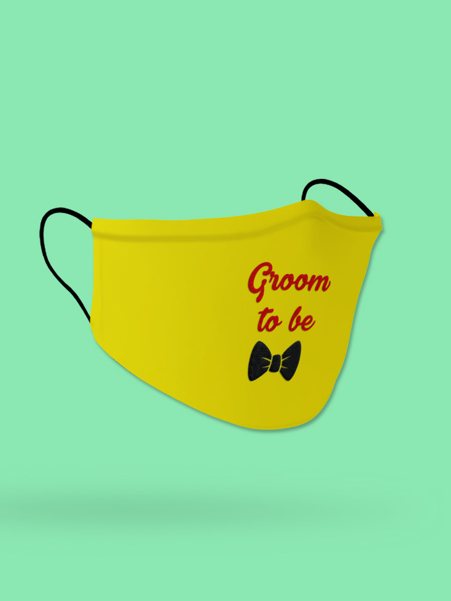Groom To Be Embroidered Wedding Face Mask