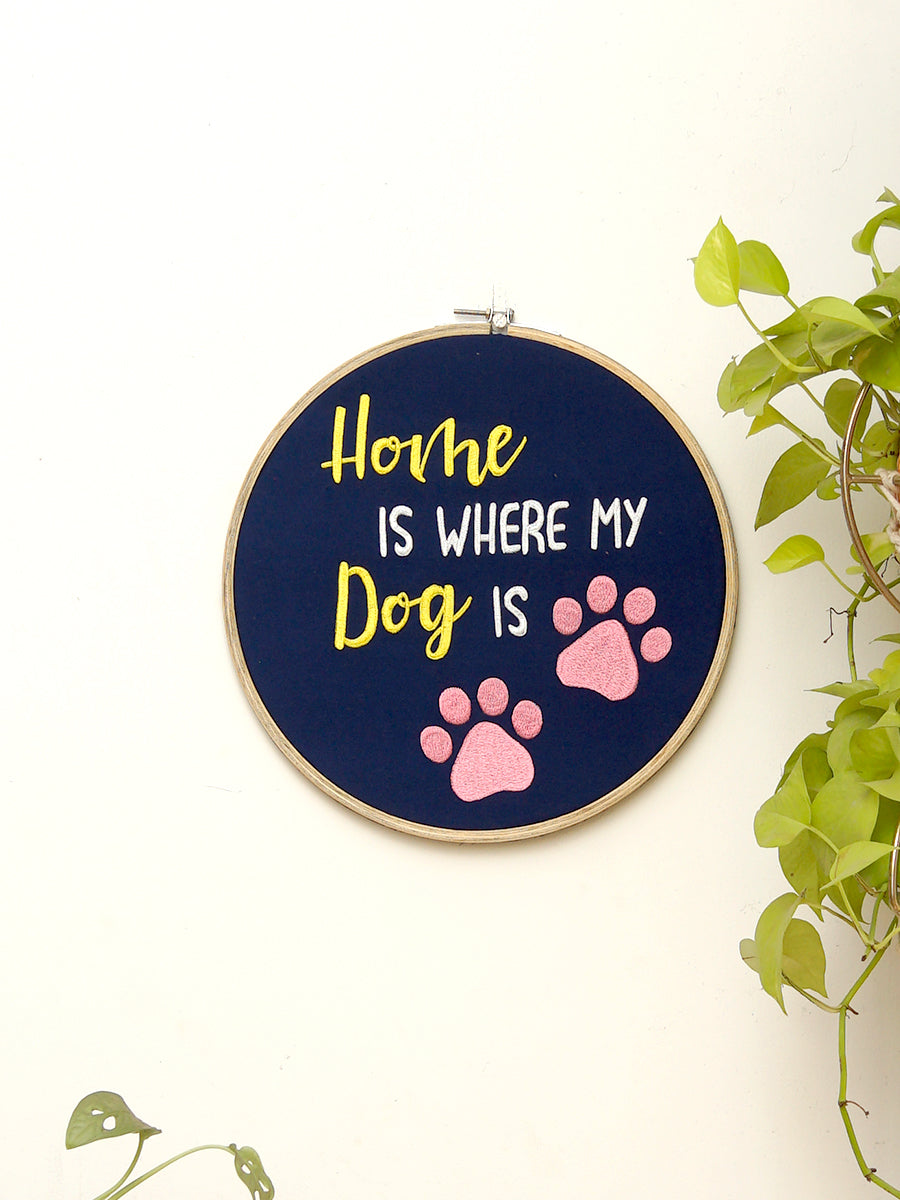 Customised Embroidered Hoop Wall Art