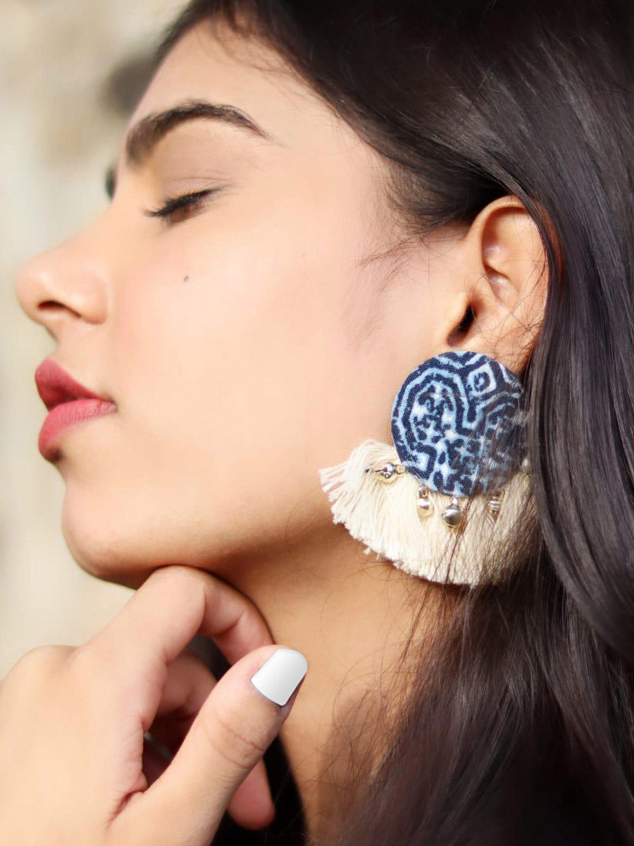 Indigo Tassel Earrings