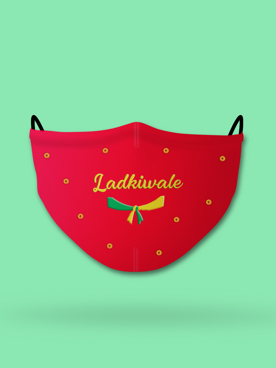 Ladkiwale Embroidered Wedding Face Mask