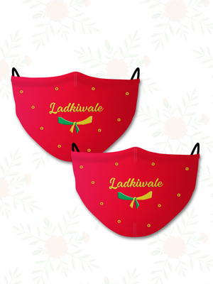 Ladkiwale (Set of 2) Wedding Face Mask