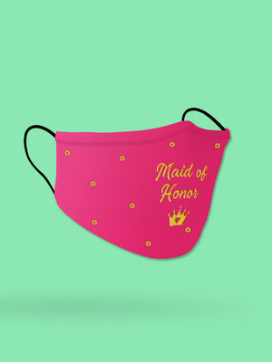 Maid of Honor Embroidered Wedding Face Mask