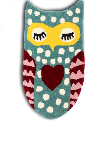 Napping Owlie Floor Rug/Mat