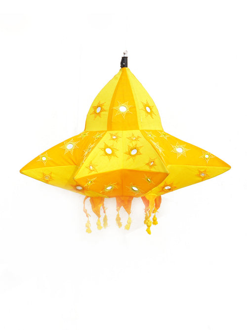 Orange and yellow star lantern