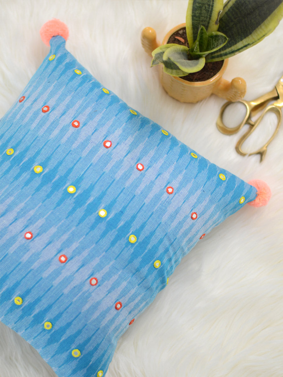Peace Cushion Cover (Sky Blue)