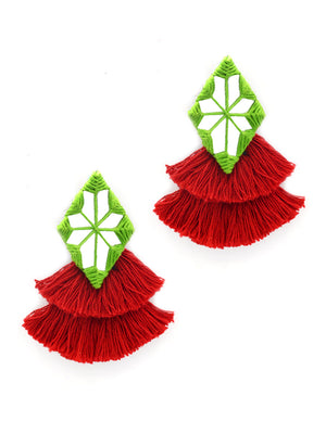 Naaz Hand-Embroidered Tassel Earrings