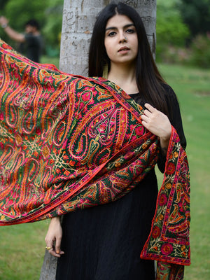 Satrangi Dupatta, a hand embroidered, statement dupatta from our designer collection of dupattas and clothing for women online.