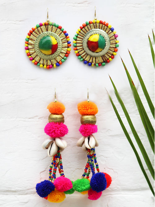 Bohemian Crush + Majestic Mandala Earrings (Set of 2)