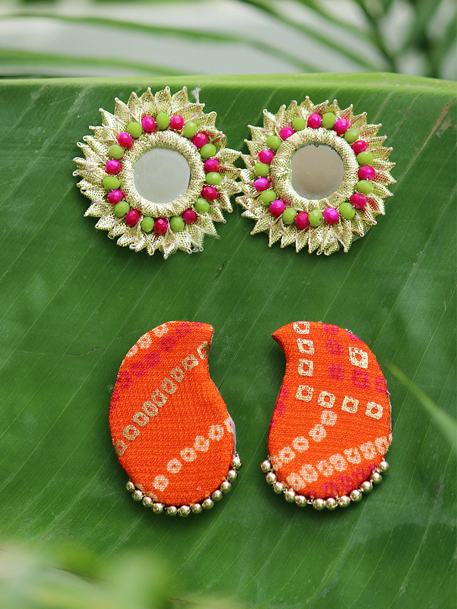 Gota Beauty + Paisley Stud Earrings (Set of 2)