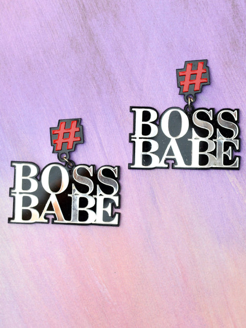 Boss Babe Earrings by kraftedwithhappiness
