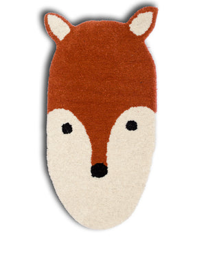 What does the fox say? Floor Rug/Mat, a quirky rug from our latest collection of bohemian home decor products online.