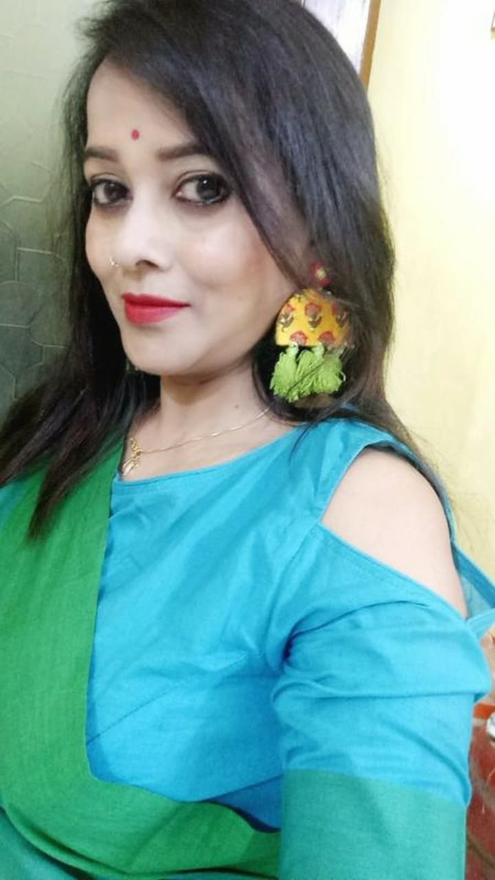 Haseena Hand-embroidered Tassel Earrings, a beautiful handmade hand embroidered earring with mirror and tassel from our designer collection of earrings for women online.