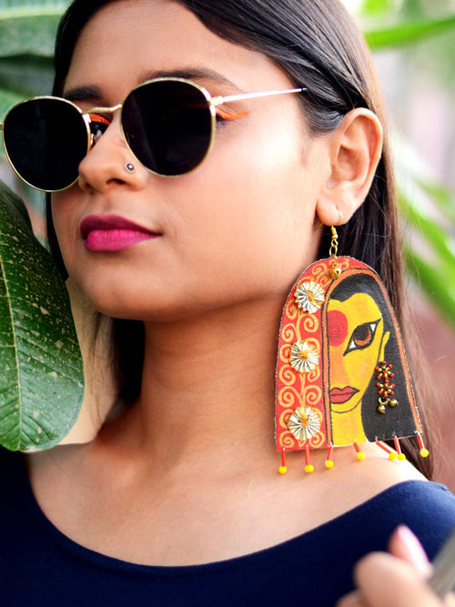 Awwrat Handpainted Earrings