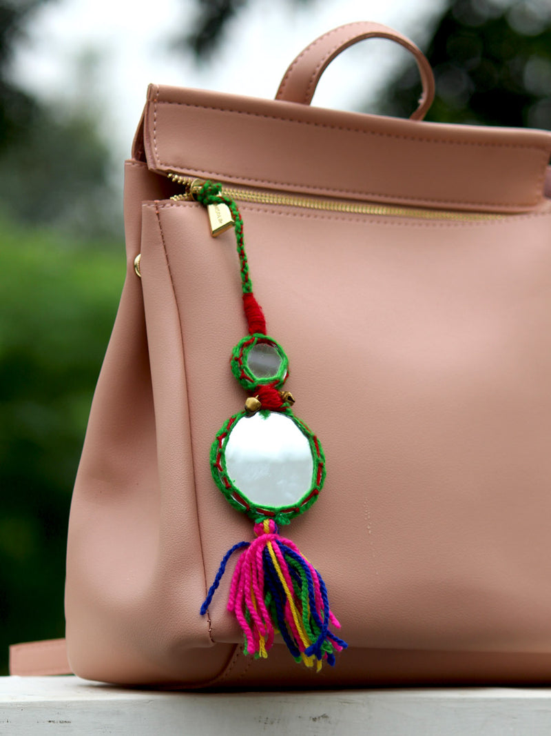 Mirror Tassel Bag Charm