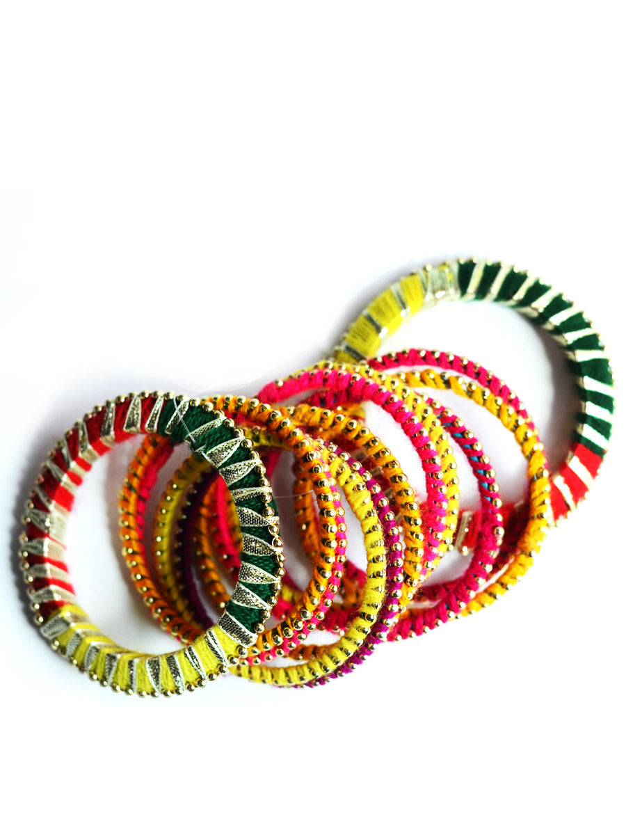Color Pop Gota Bangles 2 (Set of 12)