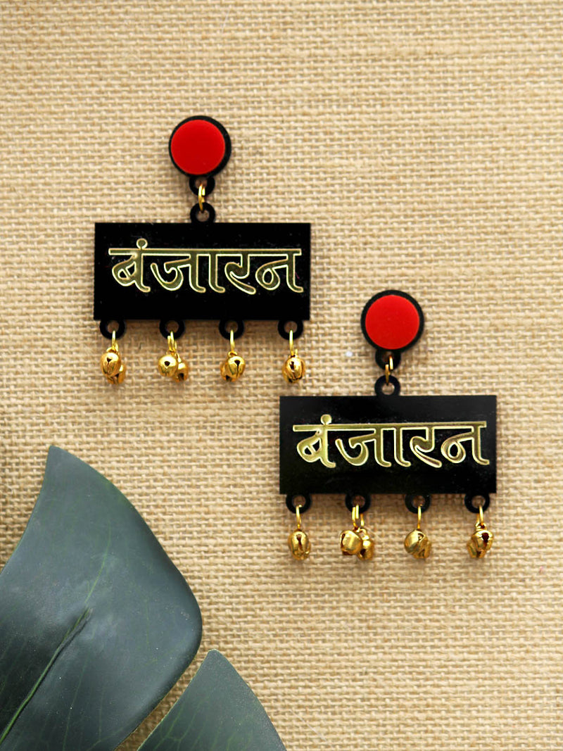 Banjaran Earrings, a quirky, unique, statement party-wear earrings from our designer collection of earrings for women online.