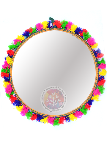 Boho Decor Round Mirror (Big)