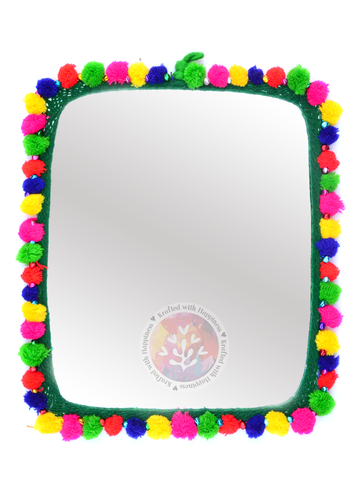 Boho Decor Mirror (Green)