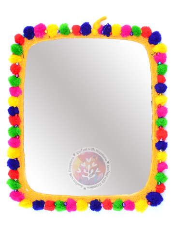 Boho Decor Mirror (Yellow)