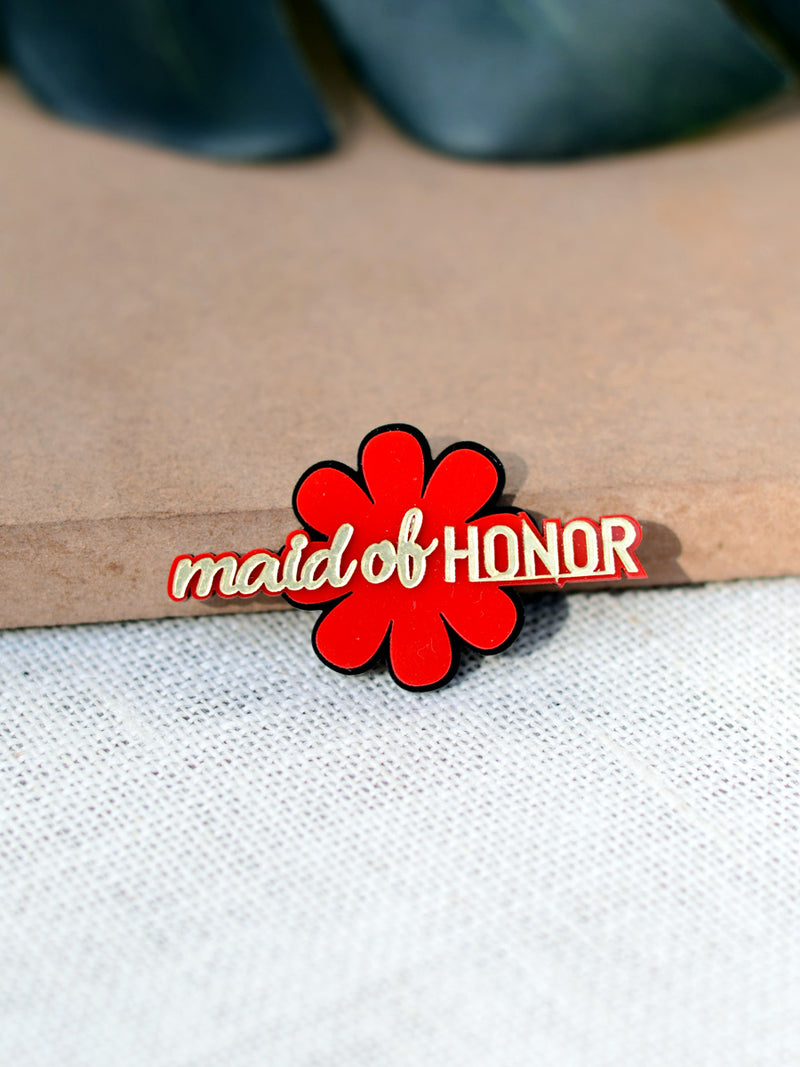 Maid of Honor Brooch, a quirky, handmade statement brooch from our wide range of wedding collection for men and women.