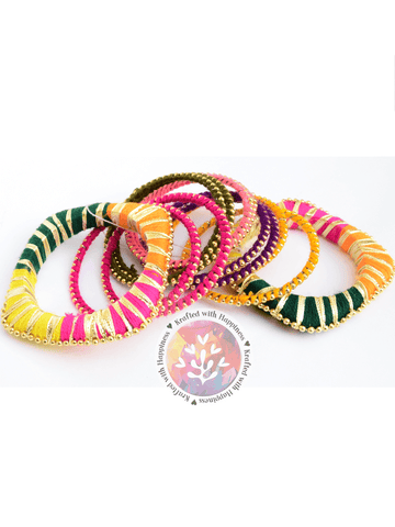 Color Pop Gota Bangles (Set of 12)