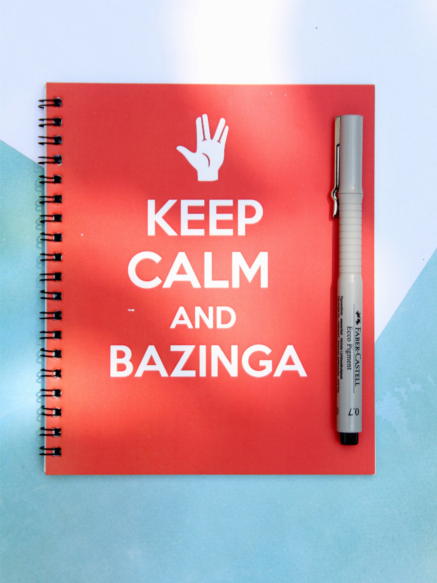 Keep Calm & Bazinga Notebook