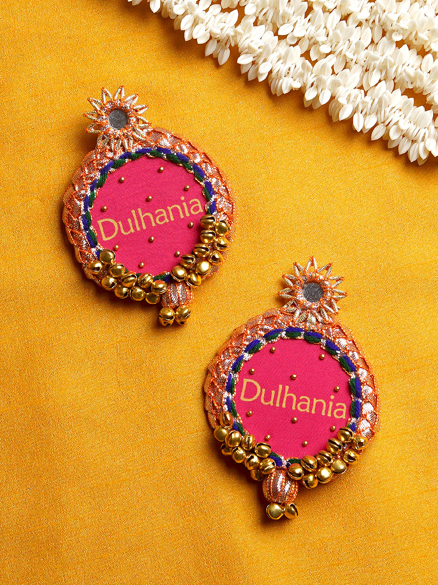Dulhania Gota Patti Embroidered Earrings