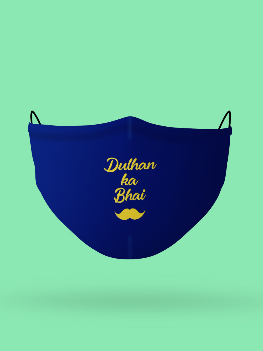 Dulhan ka Bhai Embroidered Wedding Face Mask