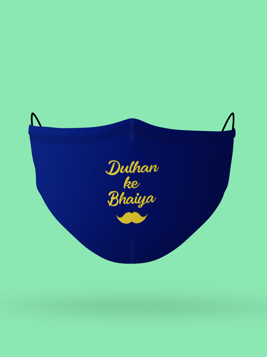 Dulhan ke Bhaiya Embroidered Wedding Face Mask