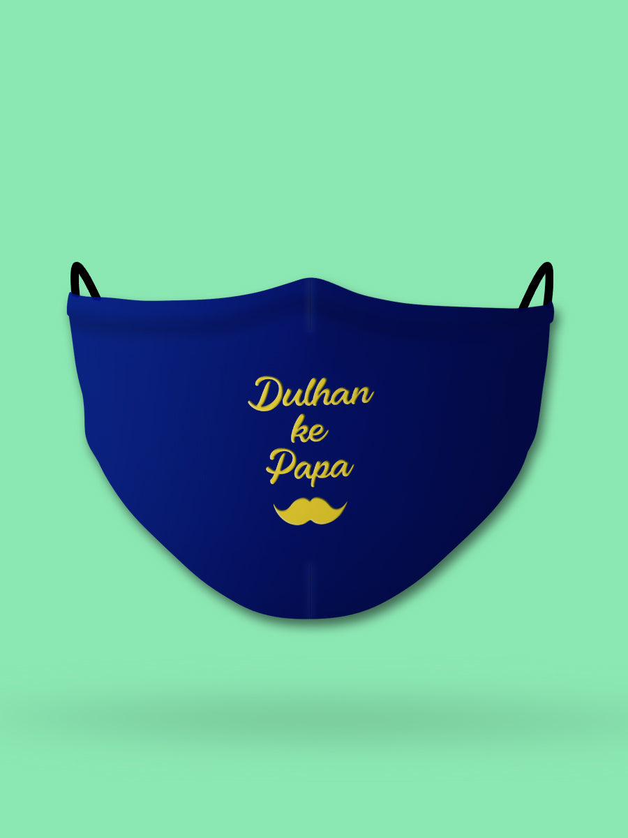 Dulhan ke Papa Embroidered Wedding Face Mask