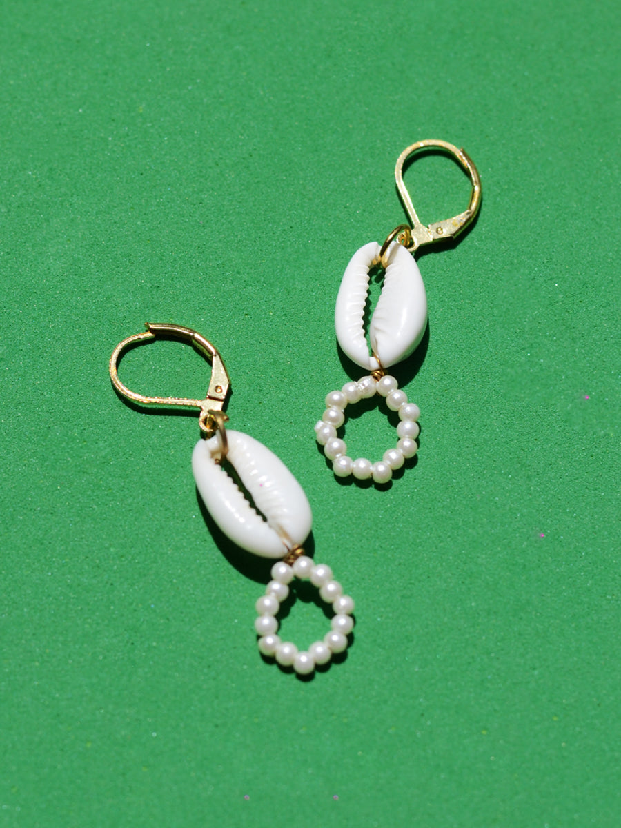 Niah Shell Bead Earrings