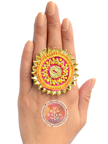 Gorgeous Gota Ring (Pink)