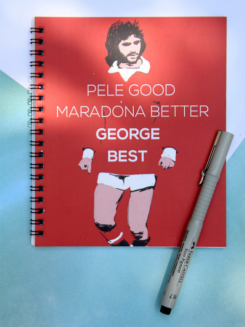 Pele Good George Best Notebook