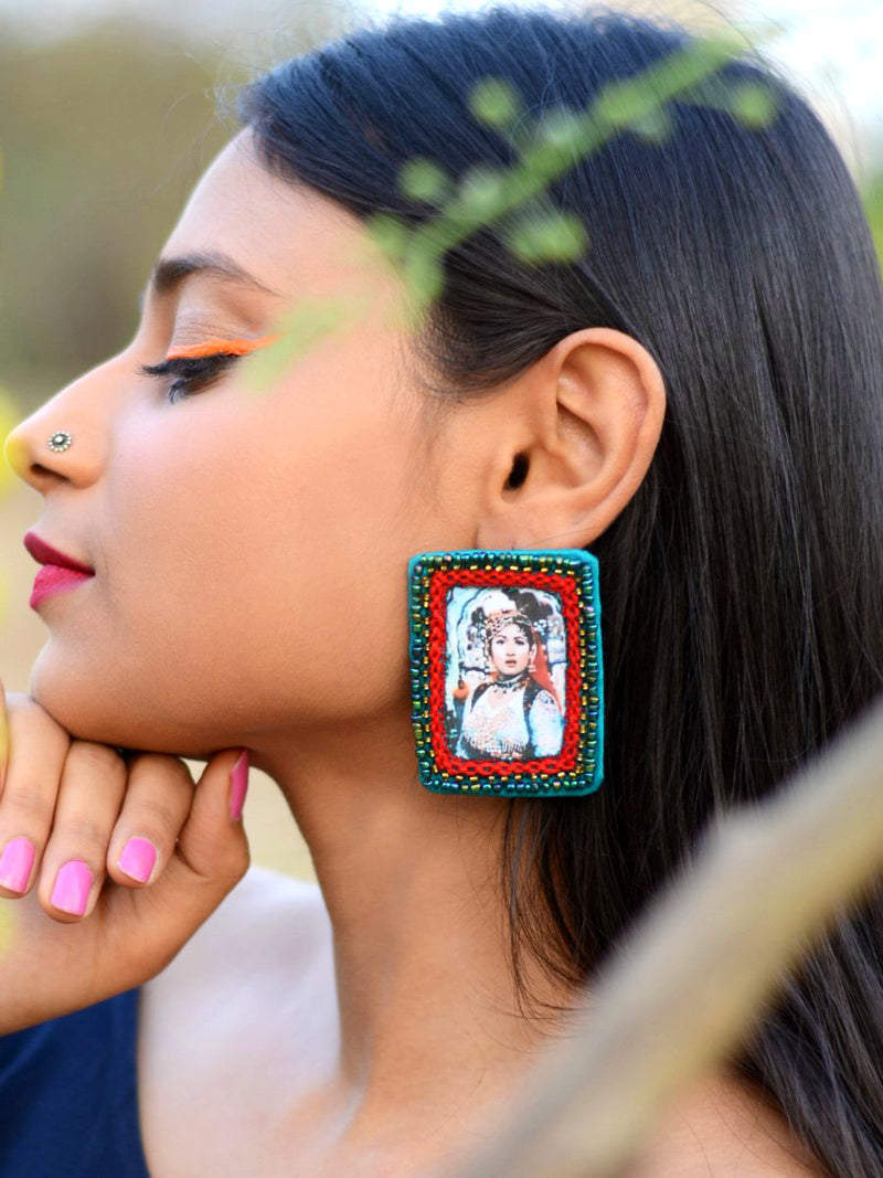 Anarkali Earrings, a quirky, unique, statement party-wear earrings from our designer collection of earrings for women.