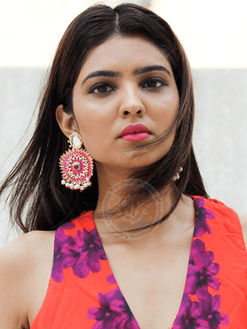 Mirror Magnificence Earrings (Pink)