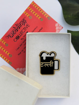Talli Brooch, a unique handmade statement brooches from our wide range of latest quirky collection of brooches for men & women.