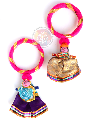Puppet Party Bangles (Set of 2) - Pink
