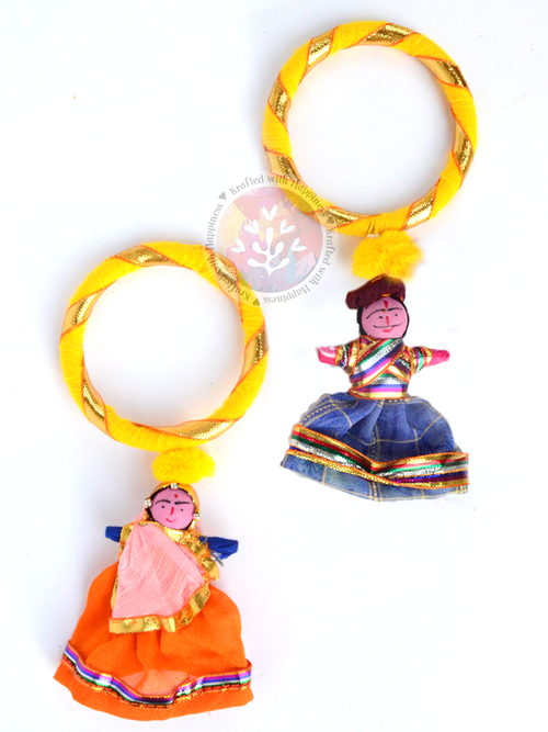 Puppet Party Bangles (Set of 2) - Yellow